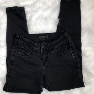 Women's Silver Suki Ankle Skinny Jeans 25